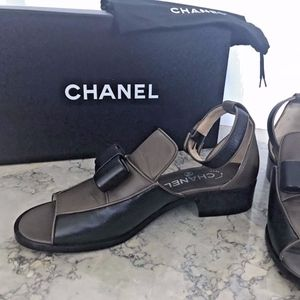 NEW Chanel Leather Sandals Loafer Style